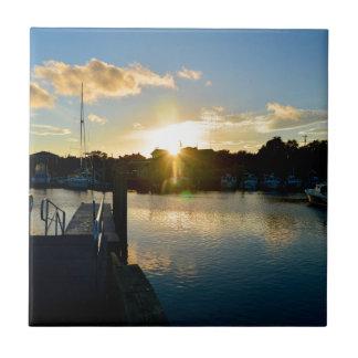 Azulejo De Cerámica Puesta del sol sobre Cape Cod