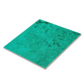 Azulejo De Cerámica Punto de cobre verde de la pátina del verdete