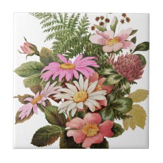Azulejo De Cerámica ramo de la flor