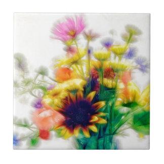 Azulejo De Cerámica Ramo del Wildflower del verano