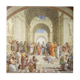 Azulejo De Cerámica Raphael - La escuela de Atenas 1511