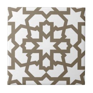 Azulejo De Cerámica Red color oro de mosaico de geometría marroquí en