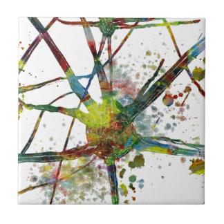 Azulejo De Cerámica Regalo abstracto médico de las sinapsis