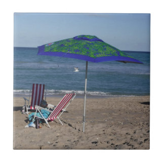 Azulejo De Cerámica Relájese en la playa