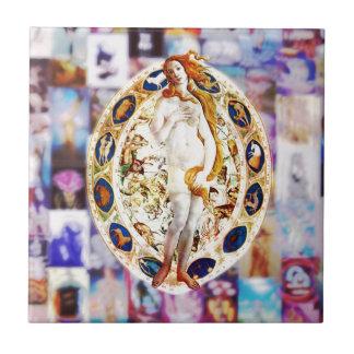 Azulejo De Cerámica Renacimiento de Venus