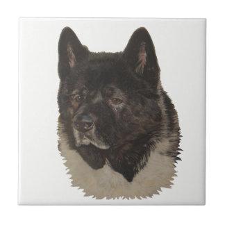 Azulejo De Cerámica retrato blanco y negro del perro del arte del