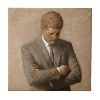 Azulejo De Cerámica Retrato oficial de la Casa Blanca de John F. Kenne