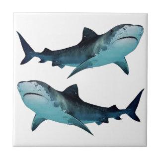 Azulejo De Cerámica Reunión del tiburón