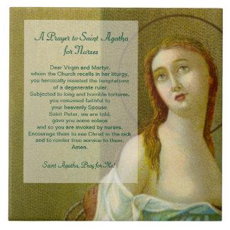 Azulejo De Cerámica Rezo del St. Agatha (M 003) para las enfermeras