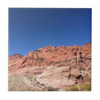 Azulejo De Cerámica Rocas rojas y cielos azules