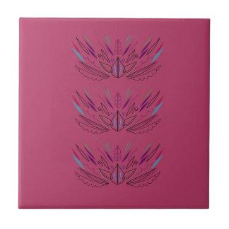 Azulejo De Cerámica Rosa de las mandalas de la salud