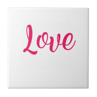 Azulejo De Cerámica Rosa del amor