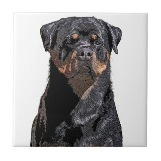 Azulejo De Cerámica Rottweiler