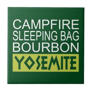 Azulejo De Cerámica Saco de dormir Borbón Yosemite de la hoguera