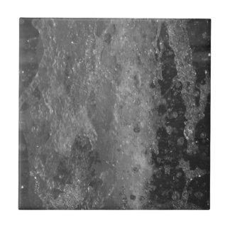 Azulejo De Cerámica Salpica del agua de la fuente (blanco y negro)