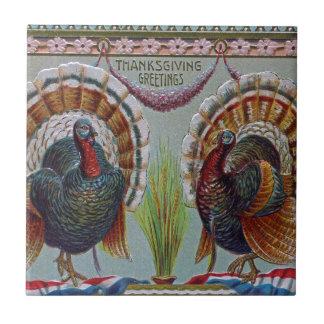 Azulejo De Cerámica Saludos 1906 de la acción de gracias