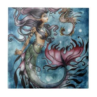 Azulejo De Cerámica Seahorse