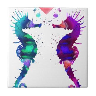 Azulejo De Cerámica Seahorse, Seahorse en amor