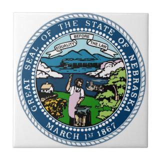 Azulejo De Cerámica Sello del estado de Nebraska