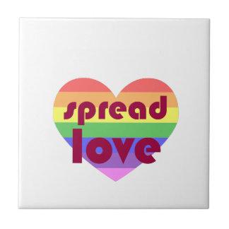 Azulejo De Cerámica Separe el amor gay