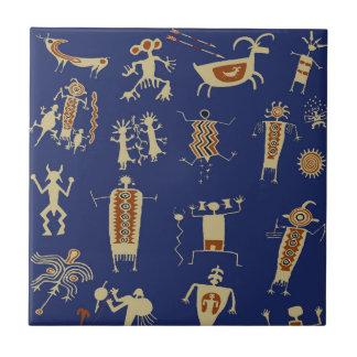 Azulejo De Cerámica Shaman del arte de la roca del sudoeste