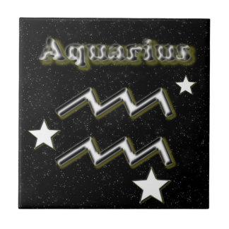 Azulejo De Cerámica Símbolo del acuario