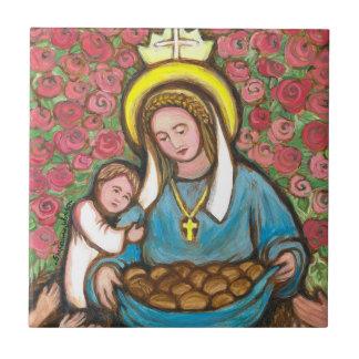 Azulejo De Cerámica St Elizabeth de Hungría