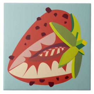 Azulejo De Cerámica Strawberry ilustración