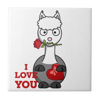 Azulejo De Cerámica te quiero alpaca