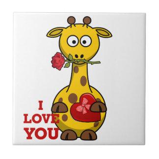 Azulejo De Cerámica te quiero jirafa