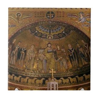 Azulejo De Cerámica Templo del arco de la bóveda de la iglesia
