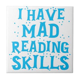 Azulejo De Cerámica tengo habilidades de lectura enojadas