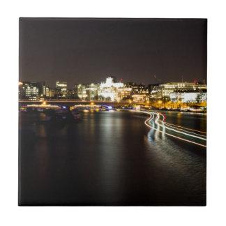 Azulejo De Cerámica Transbordador en la noche