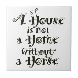 Azulejo De Cerámica Una casa sin el caballo