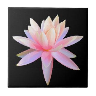 Azulejo De Cerámica Único fresco del lirio del arte rosado hermoso de