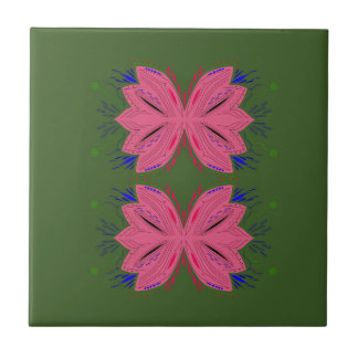 Azulejo De Cerámica Verde del rosa de los elementos del diseño