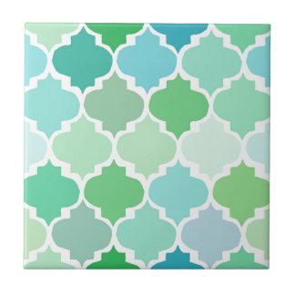 Azulejo De Cerámica verde, marroquí, quatrefoil, modelo, moda,