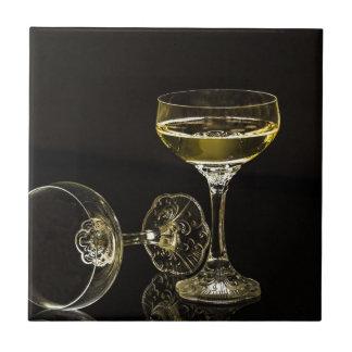 Azulejo De Cerámica vidrios del champán