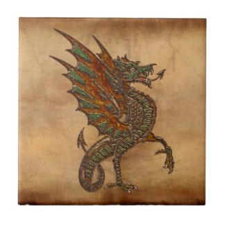 Azulejo De Cerámica Viejo diseño medieval del dragón de YE