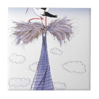 Azulejo De Cerámica Visitantes incómodos de ShardArt de Tony Fernandes
