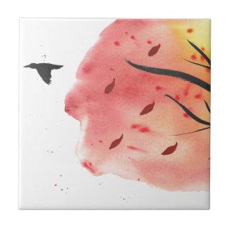 Azulejo De Cerámica Vuelo del otoño