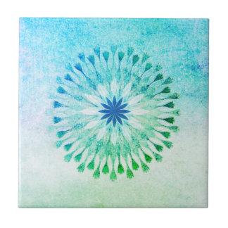 Azulejo De Cerámica Yoga curativa del arte de la playa de la acuarela