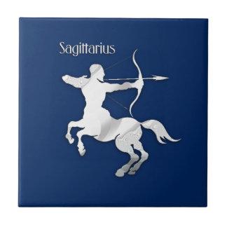 Azulejo De Cerámica Zodiaco del sagitario de los azules marinos