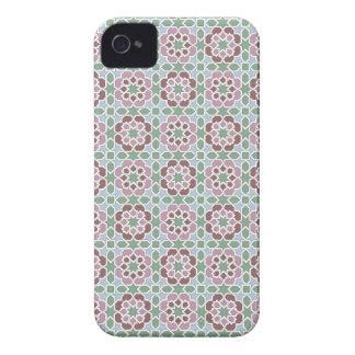 Azulejo de Marruecos, mosaico verde y rosa iPhone 4 Case-Mate Coberturas