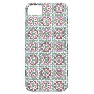 Azulejo de Marruecos, mosaico verde y rosa iPhone 5 Case-Mate Cobertura