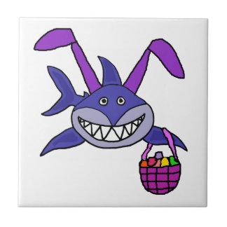 Azulejo Dibujo animado divertido del conejito de pascua