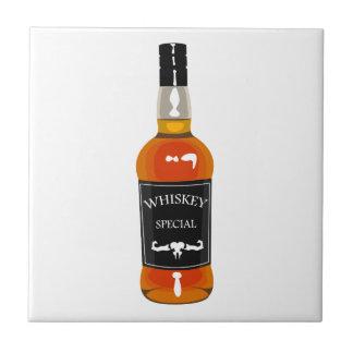 Azulejo Dibujo de la botella de whisky aislado en
