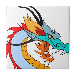 Azulejo Dibujo de la cara del dragón