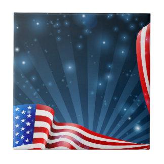 Azulejo Diseño del fondo de la bandera americana