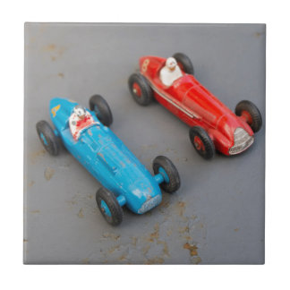 Azulejo Dos coches del juguete del vintage
